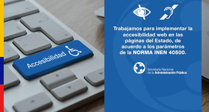 El Gobierno Nacional trabaja en la implementación de accesibilidad web